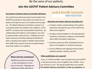 Join Our Patient Advisory Committee