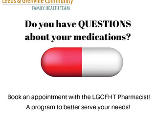 LGCFHT Pharmacist - Accepting Appointments!