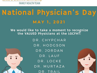 May 1st is National Physician's Day!