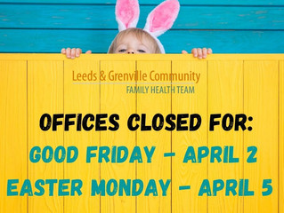 Offices closed for Good Friday & Easter Monday!