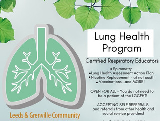 Lung Health Program - 613-342-4076 - Book an appointment today!