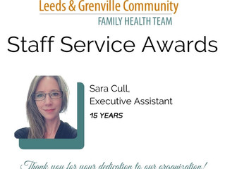 Staff Service Awards!!