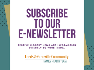 Subscribe to the New LGCFHT E-newsletter