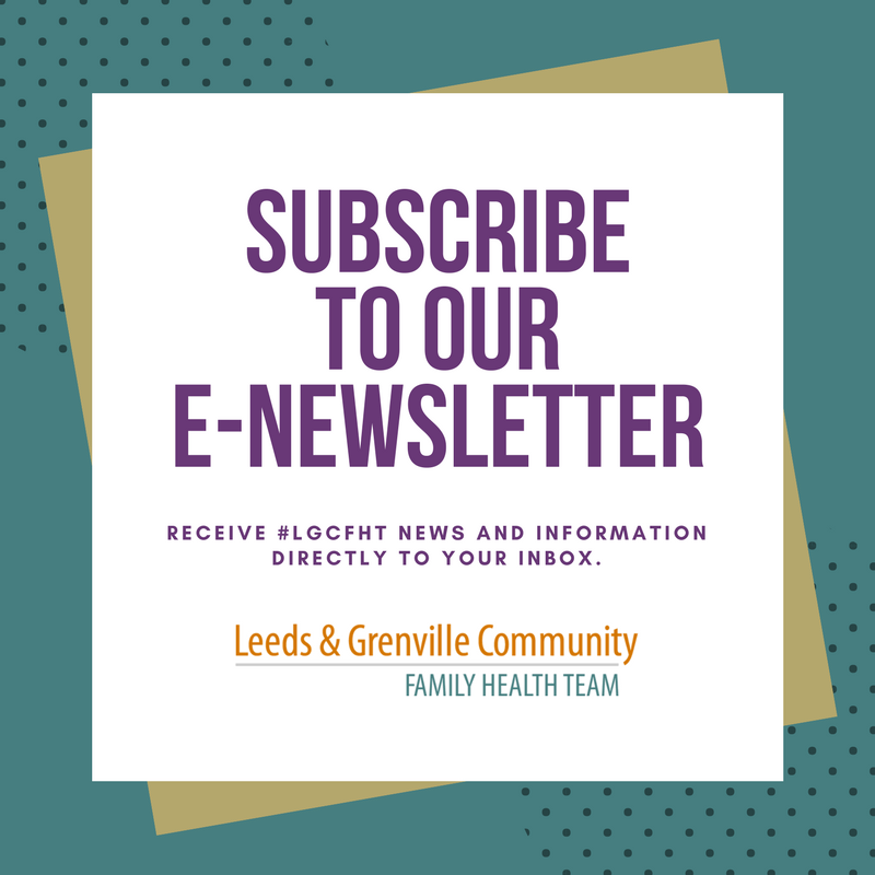 Subscribe to LGCFHT e-newsletter graphic