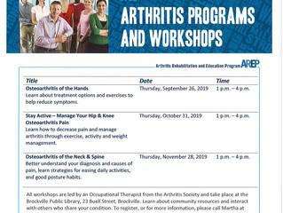 Arthritis Programs and Workshops