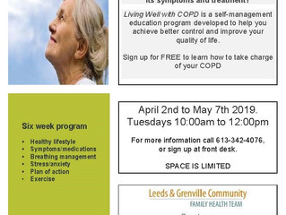 Living Well with COPD - 6 Week Program!