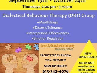 Call 613-342-4076 to register for group DBT sessions.