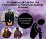 International Day for the Elimination of Violence Against Women!