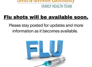 Flu shots will be available soon.  Please stay posted for updates.
