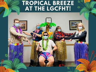 There is a tropical breeze blowing through the offices today!
