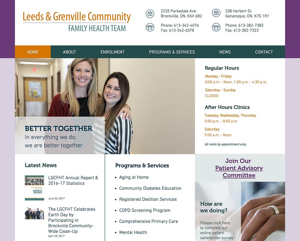 New LGCFHT Website Homepage
