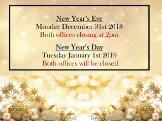 Office Hours for New Year's Eve & Day!