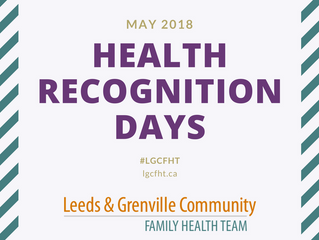 Health Recognition Days: May 2018