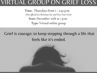 Virtual Group on Grief Loss