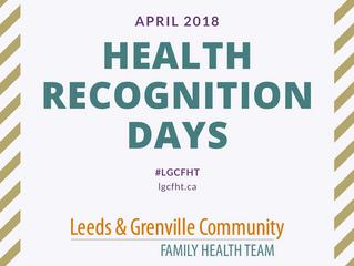 Health Recognition Days: April 2018