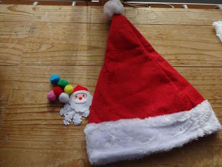 おひさまひろば クリスマスの帽子作り