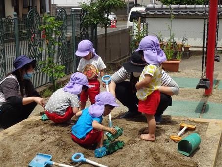 ひつじ組(満3歳児)どろんこ遊び
