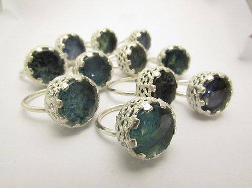 """""""Spring Water"""" Glass-set Ring"""