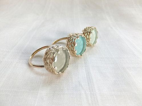 Glass-set Ring