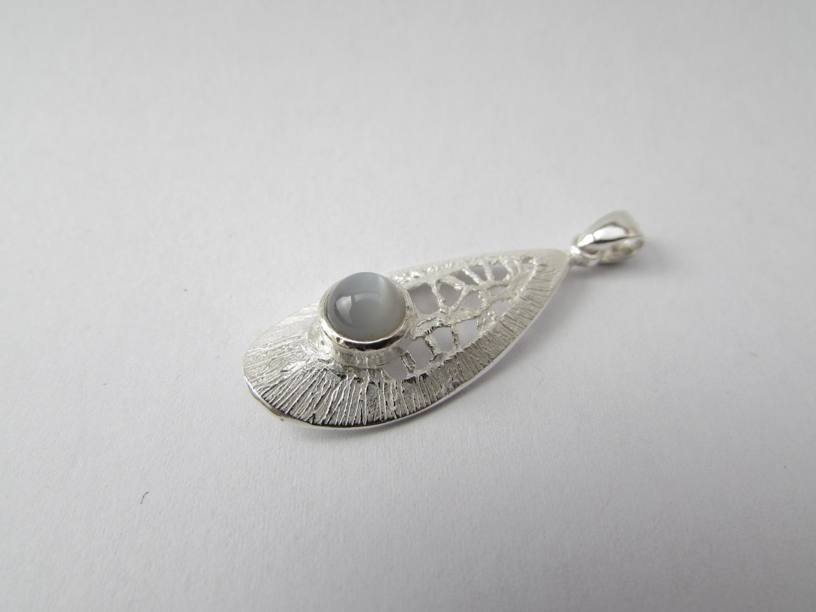 Grey Moon Stone Pendant