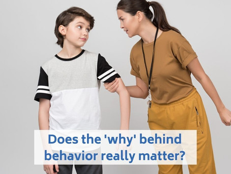 Does the 'why' behind behavior really matter?