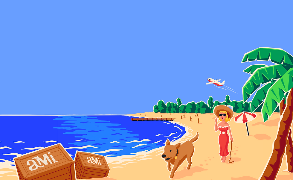 Sunset walk with dog on Anna Maria Island