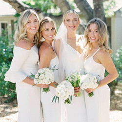 Our beauties all in white. See more of this gorgeous wedding _stylemepretty
