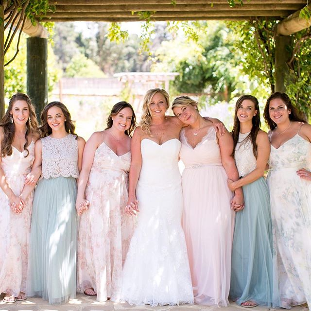 Love from all her girls 💕  _bernarduslodge • •_•_•_#couturebride #bhldn #bhldnbride #bridesmaids #b
