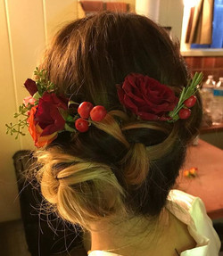 The perfect floral addition to this Big Sur bridal hairstyle. I love fat braids, flowers and awesome