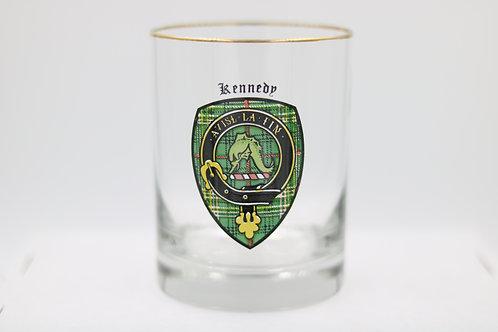Kennedy Clan Crest Glass