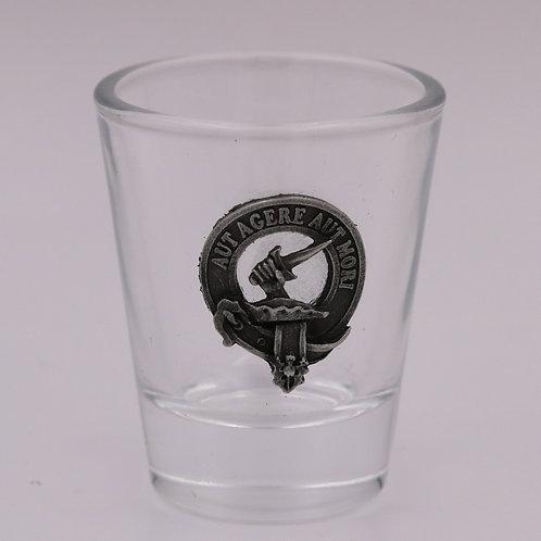 Barclay Clan Crest Shot Glass