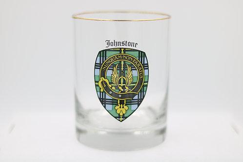 Johnstone Clan Crest Glass
