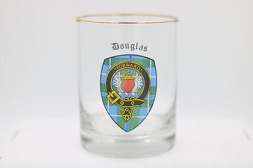 Douglas Heart Clan Crest Glass