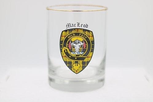 MacLeod Clan Crest Glass