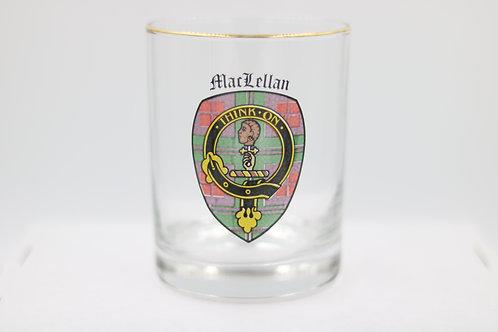 MacLellan Clan Crest Glass