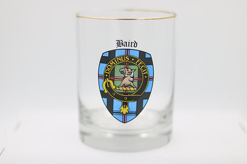 Baird Clan Crest Glass