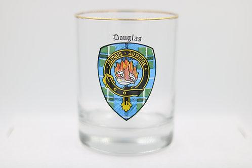 Douglas Clan Crest Glass