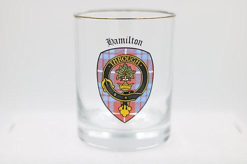 Hamilton Clan Crest Glass