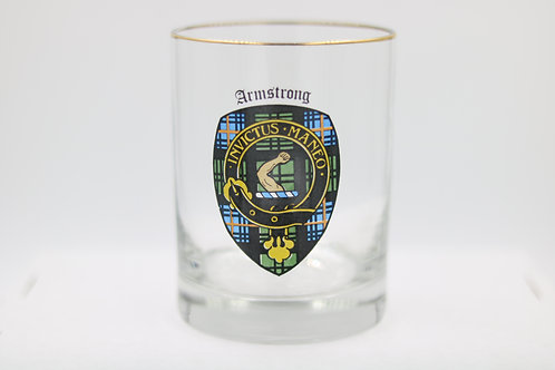 Armstrong Clan Crest Glass