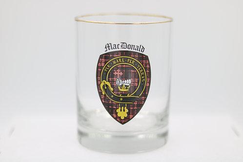 MacDonald Clan Crest Glass