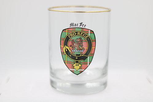 MacFee Clan Crest Glass