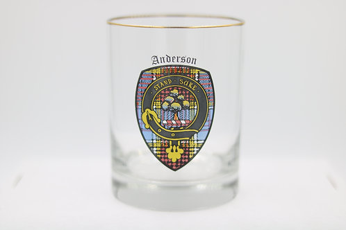 Anderson Clan Crest Glass
