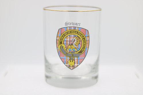 Stewart Clan Crest Glass