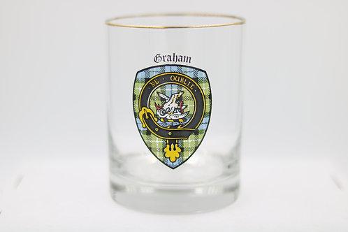 Graham Clan Crest Glass