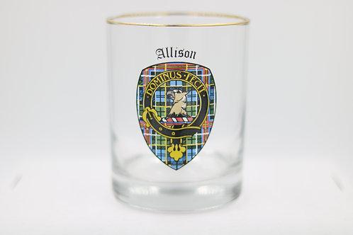 Allison Clan Crest Glass