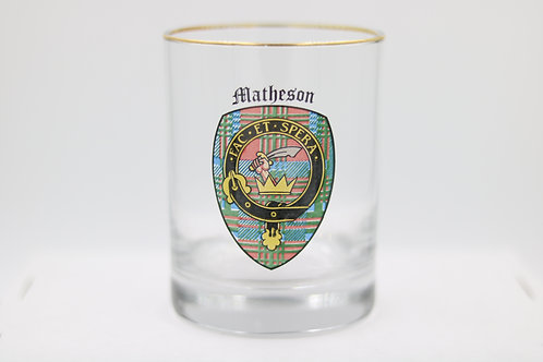 Matheson Clan Crest Glass