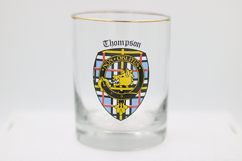 Thompson Clan Crest Glass