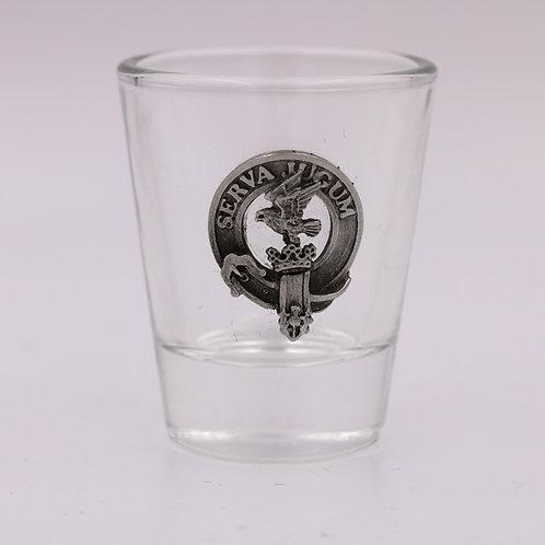 Hay Clan Crest Shot Glass