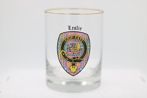 Leslie Clan Crest Glass