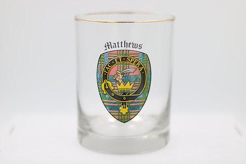 Matthews Clan Crest Glass